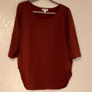 3/4 Length Patterned Blouse